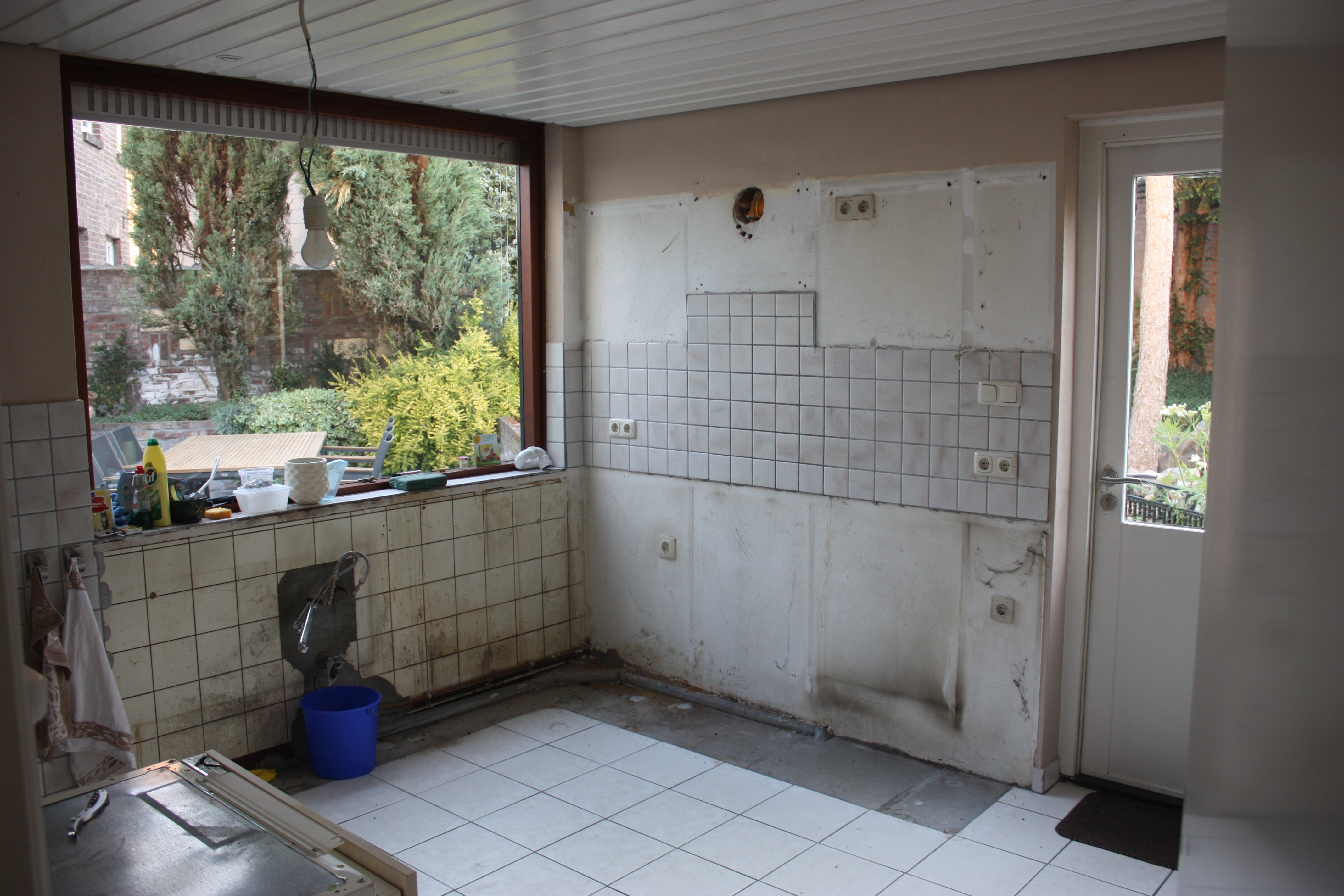 Keukenblok verwijderd
